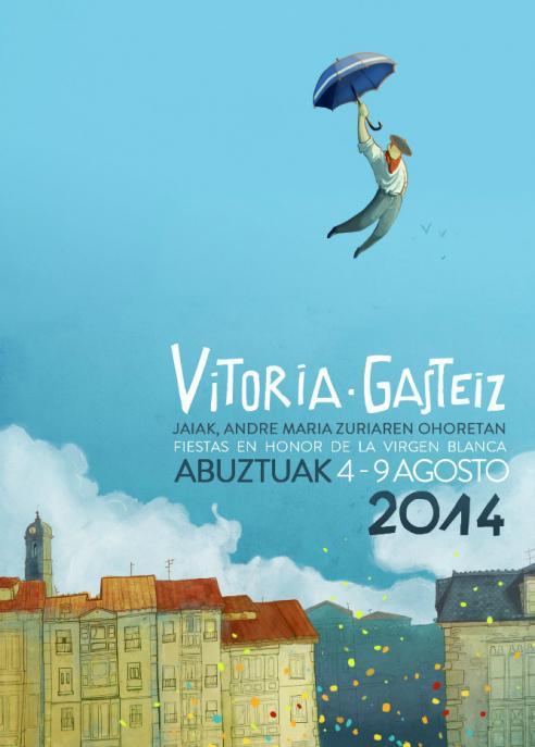 Cartel-Fiestas-Virgen-Blanca-2014-Juan-Gargallo-Vazquez